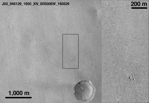 Зонд mro сфотографировал останки модуля «скиапарелли»